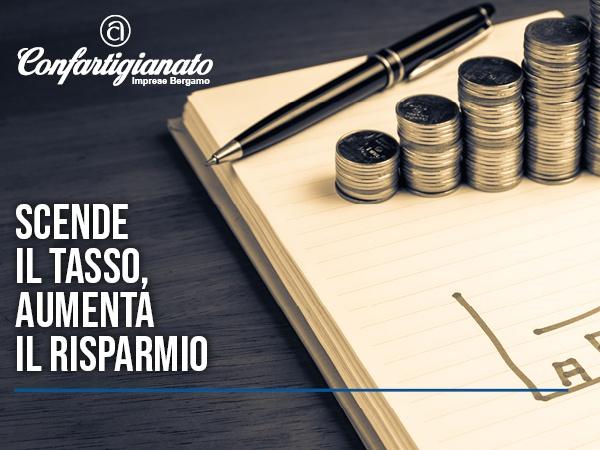 EVID_credito_stampa_ScendeIlTassoAumentaIlRisparmio