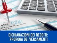 EVID_DICHIARAZIONI DEI REDDITI_ PROROGA VERSAMENTI