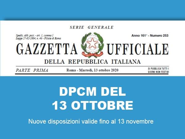 dpcm 13 ottobre
